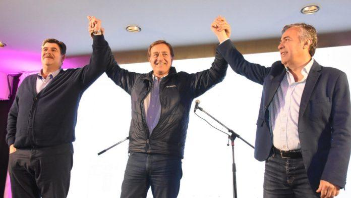Foto: Mario Abed junto a Rodolfo Suárez.